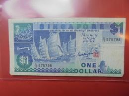 SINGAPOUR 1$ 1987 CIRCULER - Singapour