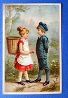 CHROMO  CHOCOLAT VAN HOUTEN   .....JEUNES ENFANTS ....RENCONTRE ....HOTTE - Van Houten