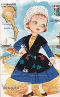 (Alb 12) Cartes Postale Habillée Ou Brodée (état Moyen   Abimée Pliure) - Cartes Postales