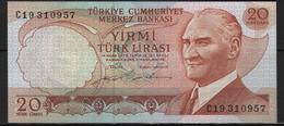 B 131 - TURQUIE Billet De 20 Lires Signature Noire état Neuf 1er Choix - Turchia