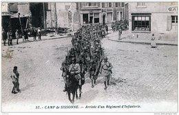 CAMP DE SISSONNE ARRIVEE D'UN REGIMENT D'INFANTERIE 1934 TBE - Sissonne