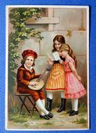 CHROMO  CHOCOLAT VAN HOUTEN   .....JEUNES ENFANTS ....MUSIQUE.....    BANJO - Van Houten