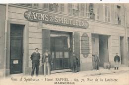 I81- 13 - MARSEILLE - Vins Et Spiritueux - Henri Raphal - 69, 71, Rue De La Loubière - Station Area, Belle De Mai, Plombières