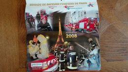 Calendrier 2008 Sapeurs Pompiers De Paris -  Photos, Avec Tour Eiffel, Arc De Triomphe, Champs Elysées ... Etc - Calendriers
