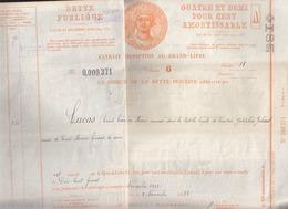 Dette Publique / 4 Et Demi Pour Cent / Nov 1932 / Titre Estampillé Jusqu'en 1940 - Non Classés