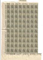 TRENTO E TRIESTE 1919 45 Cent Sovrastampato In Centesimi Di Corona  45 Cent Blocco Di 80 Esemplari Cod.fra.1005 - 8. WW I Occupation