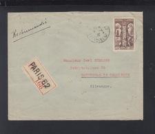 France Lettre 1936 Paris A Sonnenberg Censure - 1921-1960: Moderne