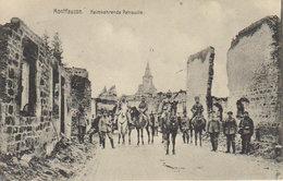 """1916 Montfaucon En Argonne - Heimkehrende Patrouille   """" Occupation Allemande """" - Verdun"""