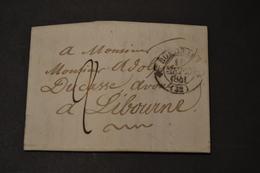 Lettre 1841 BORDEAUX Pour LIBOURNE - 1801-1848: Précurseurs XIX