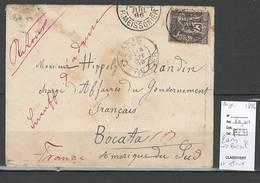 Lettre Pour Le Brésil - Retour à L'envoyeur Aprés Passage à Rio De Janeiro -1896 - Type Sage - Postmark Collection (Covers)