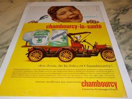 ANCIENNE PUBLICITE LA SANTE  CHAMBOURCY 1965 - Autres Collections