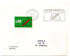 LOIRE ATLANTIQUE - Dépt N° 44 = NANTES RP 1972 = FLAMME CONCORDANTE = SECAP 'CODE POSTAL / MOT DE PASSE ' - Code Postal