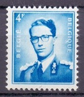926P3b Boudewijn Met Bril 4fr.fosfor Hevig Blauw  POSTFRIS** 1953 - 1953-1972 Lunettes