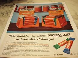 ANCIENNE  PUBLICITE TABLETTE A CROQUER  OVOMALTINE 1965 - Affiches