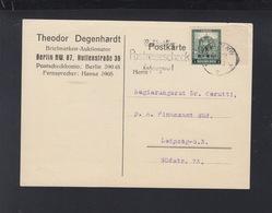 Dt. Reich PK 1932 Berlin Nach Leipzifg Aufdruck Rand - Deutschland