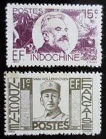 1944 Indochine Yt 249, 259 . Joost Van Vollenhoven .Jean-Marie Antoine Louis De Lanessan  Neufs Traces Charnières - Neufs