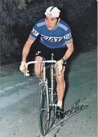 Sports Cyclisme Eddy Merckx Champion Du Monde  Avec Publicité Voiture  Fiat - Cyclisme