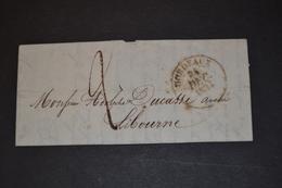 Lettre 1834 BORDEAUX Pour LIBOURNE - 1801-1848: Précurseurs XIX