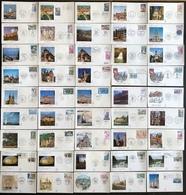 France FDC - Premier Jour - Lot De 45 FDC - Thématique Monument Lieu - FDC