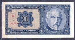 Czechoslovakia  - 1926 -  20 Korun    ..P21.... - Tchécoslovaquie