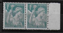 TYPE IRIS - 1944 - YVERT N°650 PAIRE Avec PAPIER FILIGRANE JAPON Sur BDF ** MNH - 1939-44 Iris