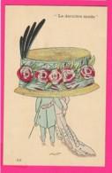CPA (Ref Z1182 ) (ILLUSTRATEUR XAVIER SAGER) Couple Avec Très Beau Chapeau (La Dernière Mode) - Sager, Xavier