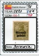 EUROPE-#GERMANY EMPIRE#MEMEL#KLAIPEDA (GDM-150-1 (14) - Klaïpeda