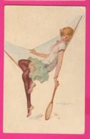 CPA (Ref Z1203) (ILLUSTRATEUR A. PENOT) Jolie Femme Sur Hamac (tennis Féminin) - Illustrateurs & Photographes