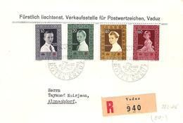 Liechtenstein 1955: Fürsten-Kinder Rotes Kreuz Zu 282-285 Mi 338-341 Yv 300-303 Mit ET-o VADUZ 14.XII.55 (Zu CHF 35.00) - FDC