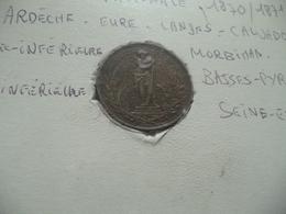 Médaille Défense Nationale 1870/1871 Ardèche Eure Landes ..... - Médailles & Décorations