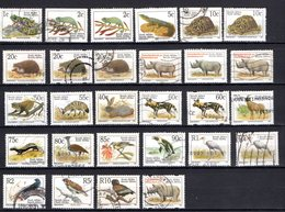 Afrique Du Sud 28 Timbres Oblitérés - Timbres