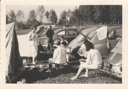 2 Cv - 4 Cv : Citroen : Campement D'enney - Suisse ( Format 7cm X 10cm ) - Automobiles