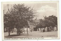 CPSM PLOERMEL, PLACE DE LA MENNAIS ET RUE DE LA GARE, MORBIHAN 56 - Ploërmel