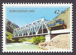 Kyrgyzstan 2009 - Transport, Railways, Train, Trains, Viaduct, River, Riviere MNH - Kyrgyzstan