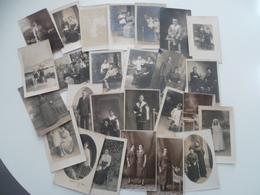 LOT DE 26  CARTES PHOTO PERSONNAGE - Fantaisies