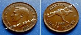 AUSTRALIA ONE HALF (1/2) PENNY 1944 M - KING GEORGE VI - Monnaie Pré-décimale (1910-1965)