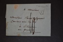 Lettre 1791 PARIS Pour LIBOURNE Cachet P Pour Commissaire Du ROY - Marcophilie (Lettres)