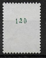 TYPE COQ DECARIS - ROULETTE AVEC NUMERO VERT ! - YVERT N°1331 OBLITERE - 1962-65 Cock Of Decaris