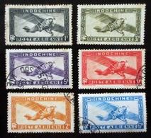 1931 Indochine Poste Aérienne 6 Valeurs Oblitérés - Oblitérés