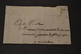 Lettre 1749 GIRONDE Plusieurs Griffes A Identifier - 1701-1800: Précurseurs XVIII