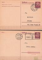 """Germany 1938 Postkarte Mit Antwortkarte, Köln 30.4.38  And Roma Ferrovia """"Fuhrer Svastika DVX"""" - Germany"""