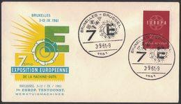 YN136  Belgique, Belgium 1961  Exposition Europeenne De La Machine - Outil - Idee Europee