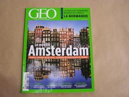 GEO Magazine N° 410 Géographie Voyage France Monde Pays Bas Amsterdam Normandie Indes Afghanistan Antarctique Météorites - Tourisme & Régions