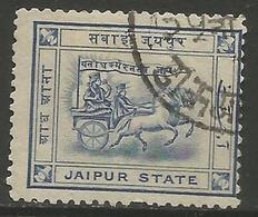 Jaipur- 1904 Chariot Of Surya 1/2a Used   SG 9  Sc 5 - Jaipur
