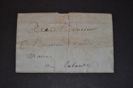 Lettre 1809 Gironde Pour LALANDE - 1792-1815: Départements Conquis