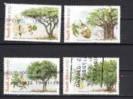 Afrique Du Sud Scott N° 1075/1078.oblitérés Plis Sur Timbre En Bas à Gauche - Afrique Du Sud (1961-...)