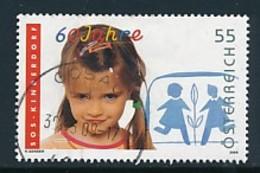 ÖSTERREICH Mi.Nr. 2793 60 Jahre SOS-Kinderdörfer - Used - 1945-.... 2. Republik