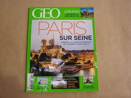 GEO Magazine N° 415 Géographie Voyage Monde Paris Sur Seine Alaska Chine Gastronomie Lesotho Afrique Du Sud Le Corbusier - Tourisme & Régions