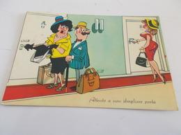 B719  Umoristica Viaggiata Macchie Al Retro - Humor