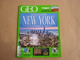 GEO Magazine N° 417 Géographie Voyage Monde USA New York Tibet Asie Sardaigne Tchétchénie Nord Pas De Calais Géants - Tourisme & Régions